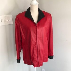 Italian 100% genuine leather red jacket